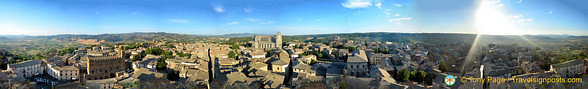 A great panoramic view from the top of Torre del Moro