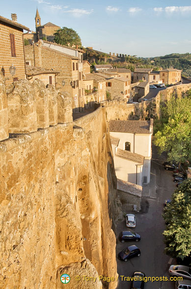 Orvieto sits on the summit of a tuff cliff