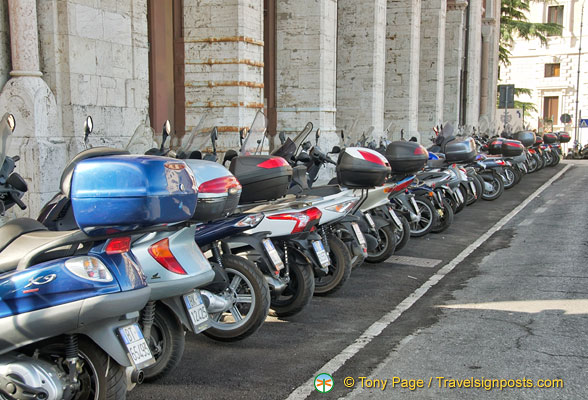 Bikes galore in Perugia