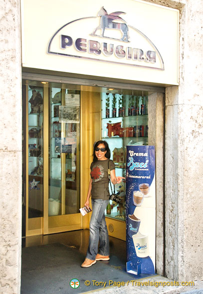 Perugina and its famous Baci chocolates from Perugia