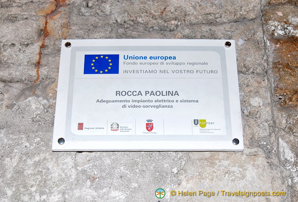 An EU project to upgrade the electrical and video-surveillance systems of the Rocca Paolina