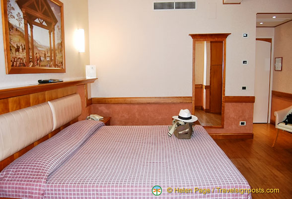 Our Sangallo Palace Hotel room was very spacious
