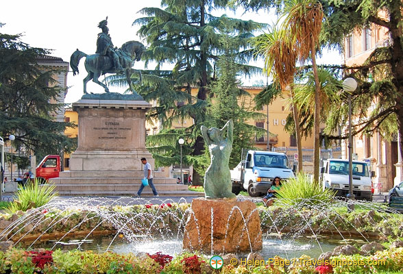 The mounted statue of Vittorio Emanuele II