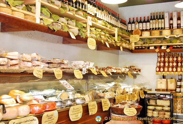 The wonderful foods in Pienza