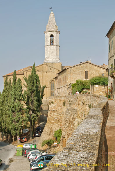 Rear view of Cathedral of Pienza