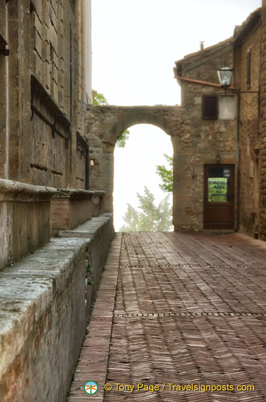 One of the gateways to Pienza