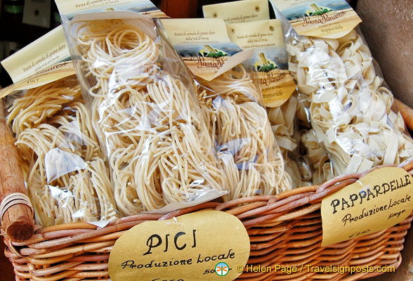 Pici and pappadelle from Pienza