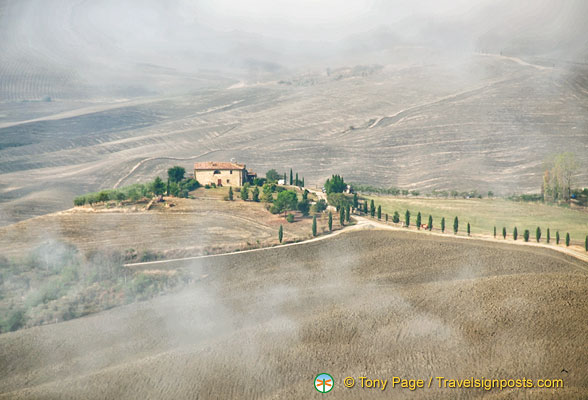 Val d'Orcia on a dewey morning