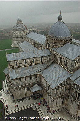 The Duomo and the Baptistry, seen from the top of the Leaning Tower