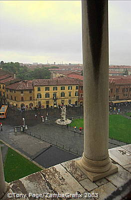 View of Field of Miracles from the Tower of Pisa