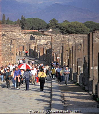 Pompeii is a busy tourist attraction