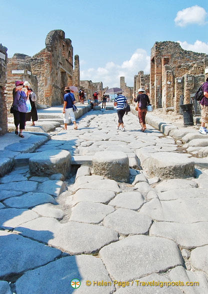 The grooves in this Pompeii street are tracks for carriages