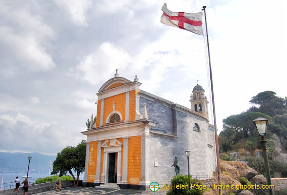 The Church of St George at the top of Portofino