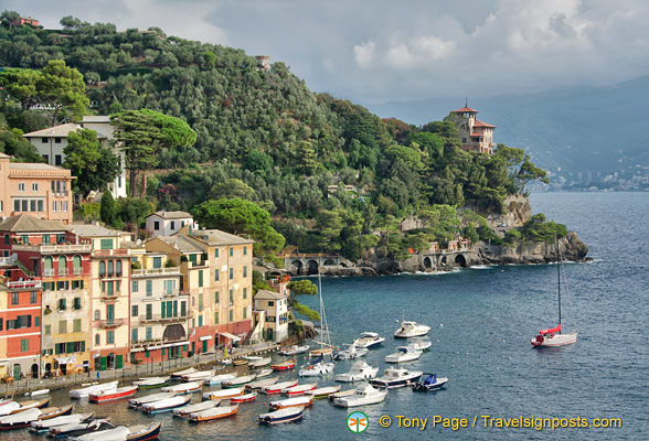 The idyllic view of Portofino harbour