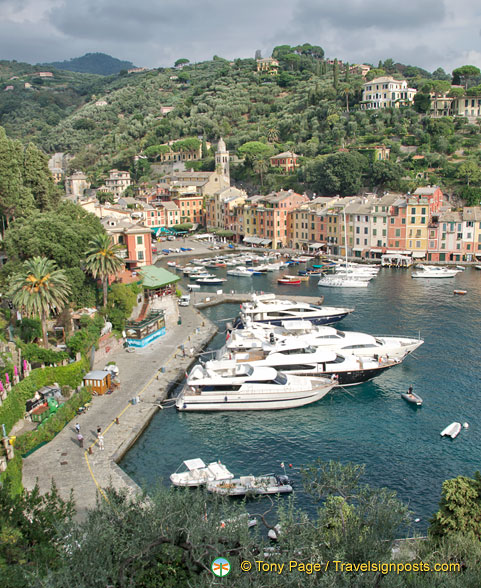 View of Portofino marina