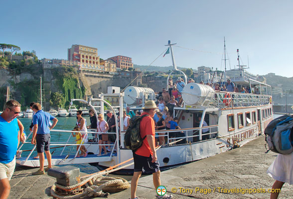 Our ferry docks at the Marina Piccola