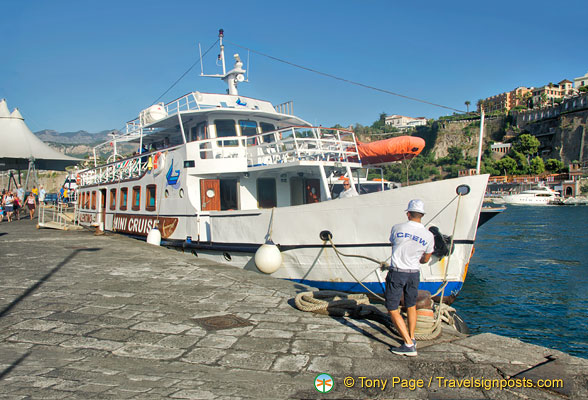 S. Valentino moored at the Marina Piccola in Sorrento