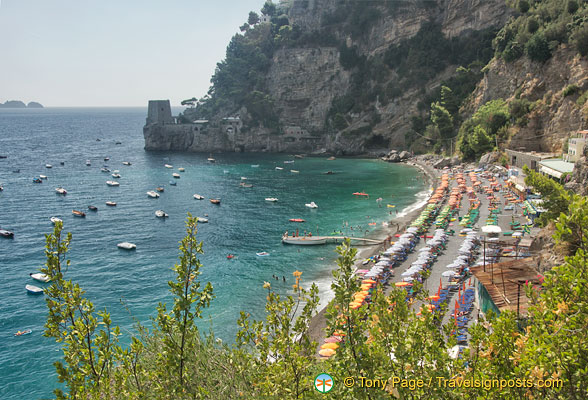 A view of Positano beach