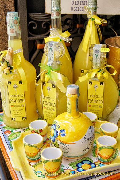 Limoncello And Pottery From Positano