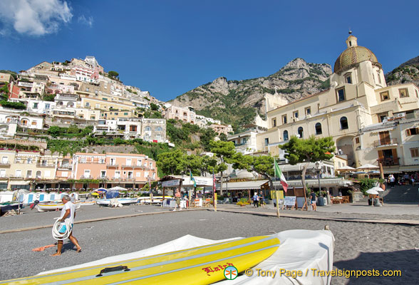 View of Positano beachfront
