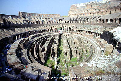 An inside view of the Colosseum