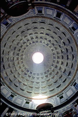 The Pantheon's famous dome