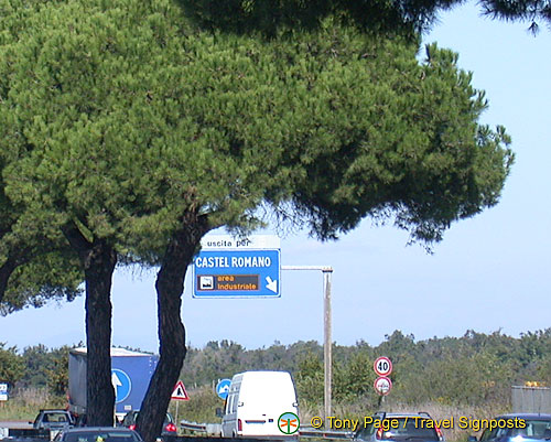 Road to Castel Romano outlet