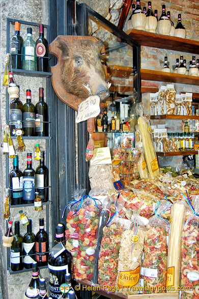 A shop full of Tuscan specialties