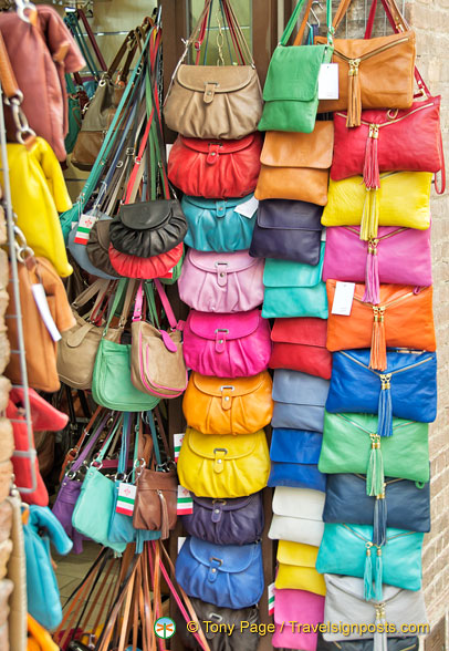 Colourful leather purses