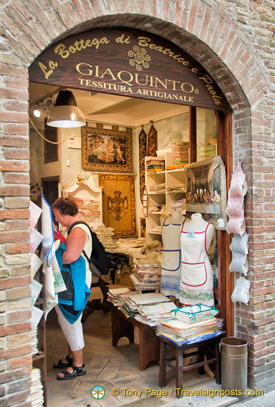 San Gimignano embroidery shop