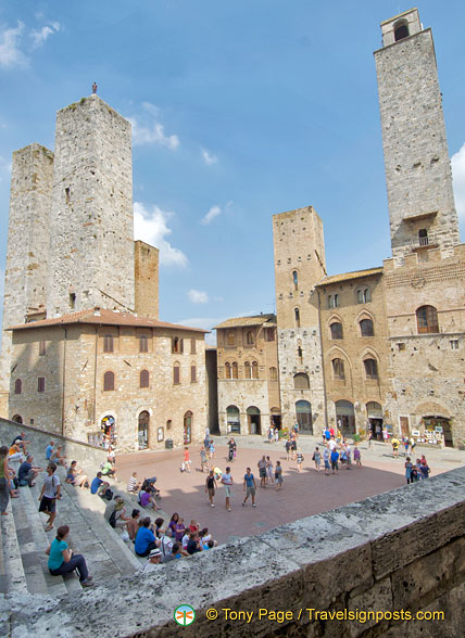 View of Piazza Duomo and its towers