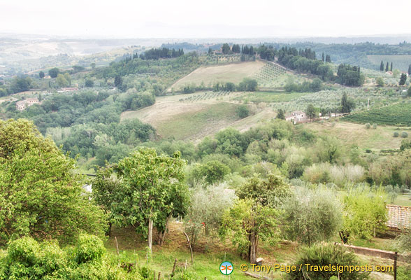 View of San Gimignano countryside