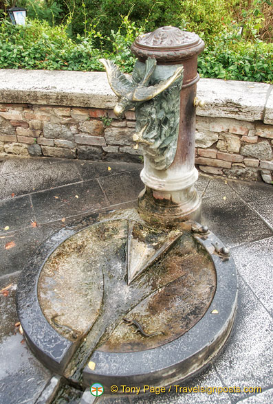 A very ornate water fountain