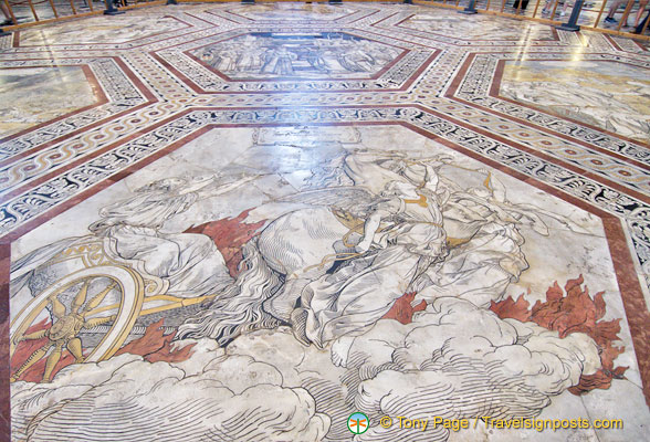 Inlaid marble floor