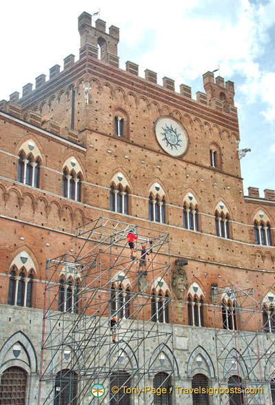 Renovations at the Palazzo Pubblico