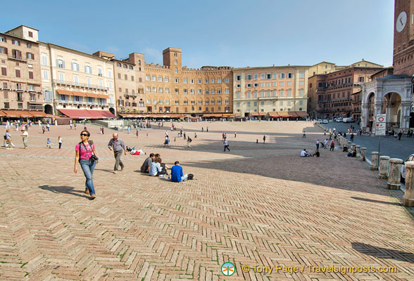 Imagine every inch of the Piazza filled with people during the Siena Palio