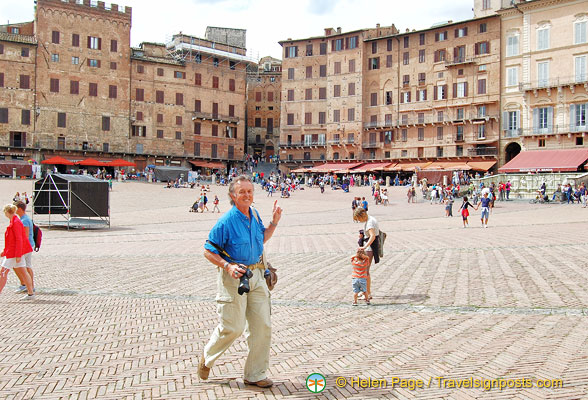 Tony on Piazza del Campo