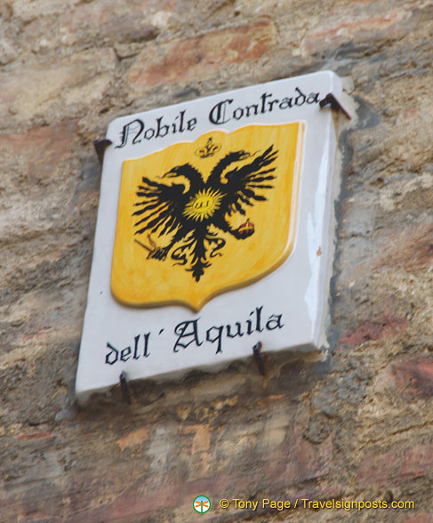 Emblem of the Noble Contrada of the Aquila