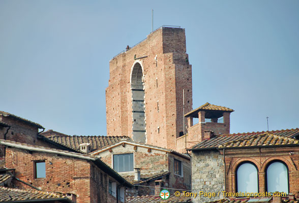 The towering unfinished nave of Siena Duomo
