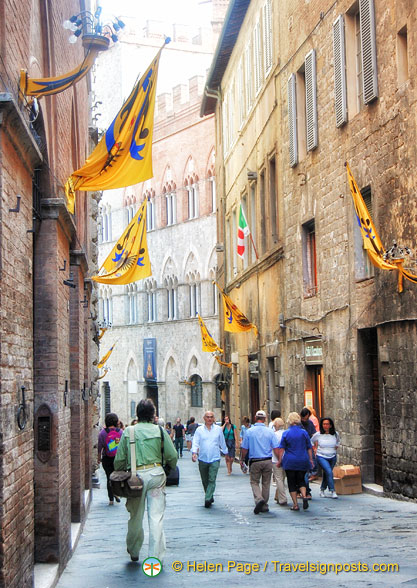 Tony exploring the streets of Siena