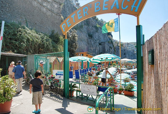 Peter's Beach - one of the many beach rental businesses in Sorrento