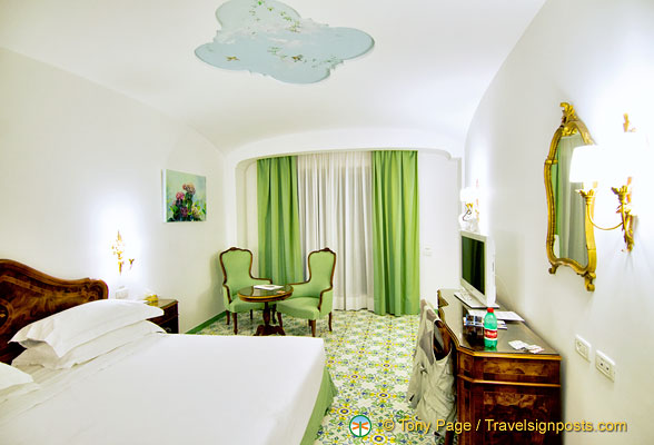Our spacious room at Hotel La Favorita room