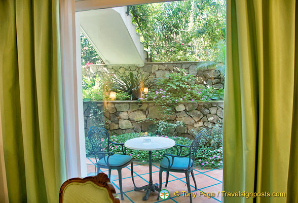 Hotel La Favorita - view of the garden from the room