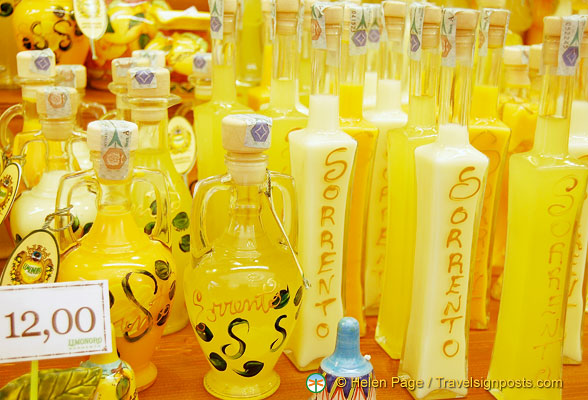 A range of Sorrento limoncello