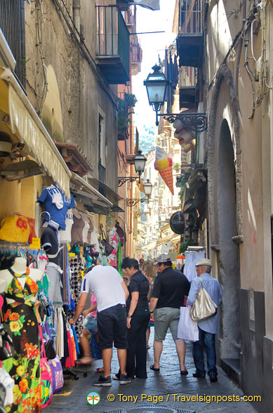 Shopping in unavoidable in Sorrento