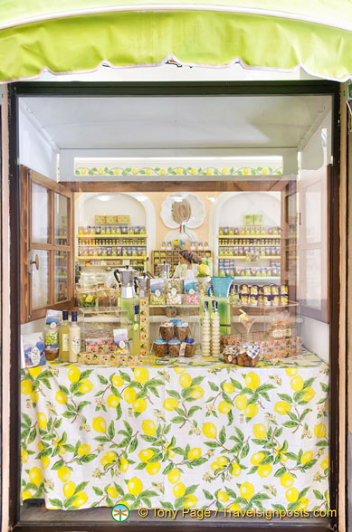 A limoncello and sweet shop