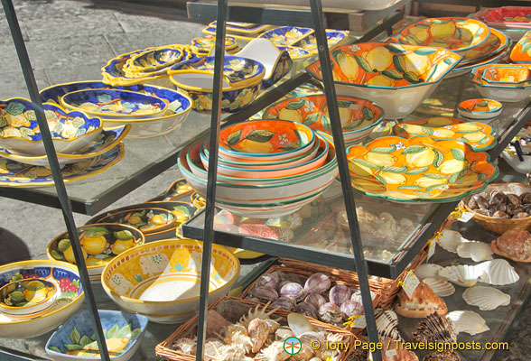 Range of Sorrento pottery