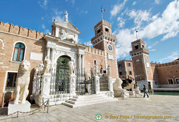 Porta Magna - the main gate at the Venetian Arsenale