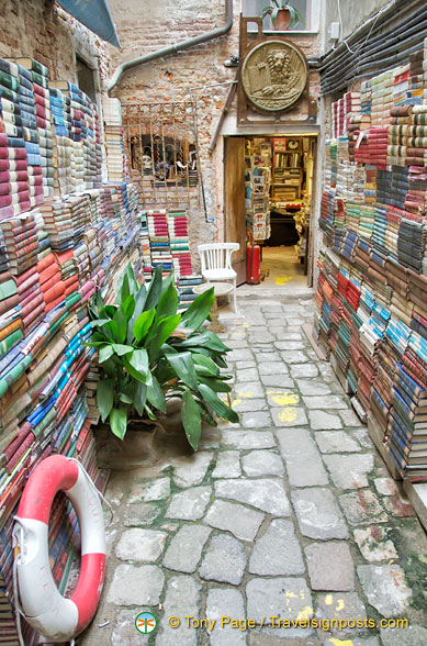 Libreria Aqua Alta, bursting with all kinds of books