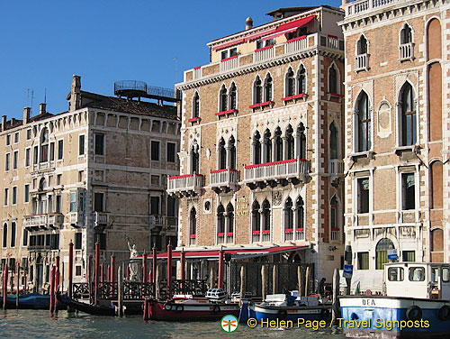 The luxurious Il Palazzo Hotel (middle building)